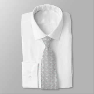 Hoja geométrica verde de los mediados de siglo y corbata