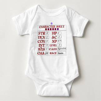 Hoja humana del carácter del RPG del bebé del Body Para Bebé