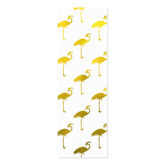 Hoja metálica del flamenco del oro amarillo falsa tarjetas de visita mini