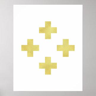 Hoja minimalista moderna de la impresión cruzada