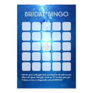 Hoja nupcial subacuática del bingo del tema 5x5 invitación 8,9 x 12,7 cm