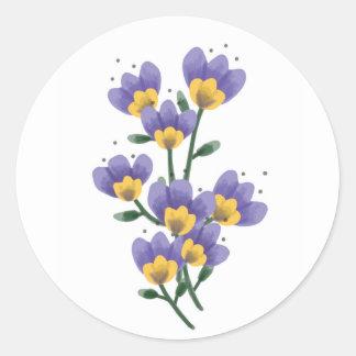 Hoja púrpura del pegatina de la flor