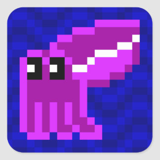 Hoja púrpura del pegatina de las jibias del balde