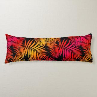 Hoja tropical de la palmera de la decoración de almohada de cuerpo entero