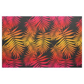 Hoja tropical de la palmera de la decoración de tela