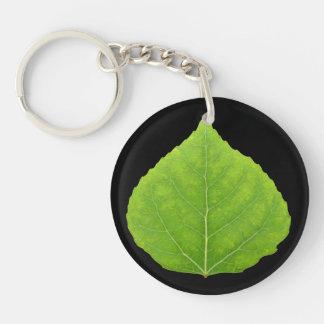 Hoja verde #11 de Aspen Llavero