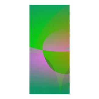 Hoja verde abstracta de Lotus Tarjeta Publicitaria