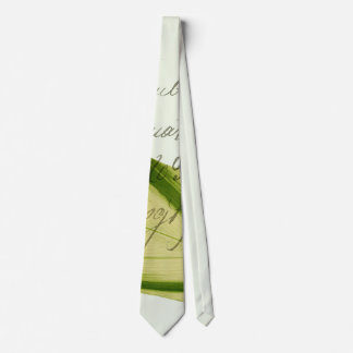 Hoja verde corbata
