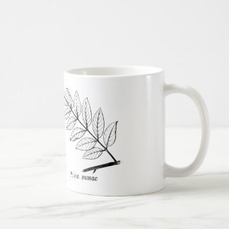 Hojas botánicas del vintage taza de café