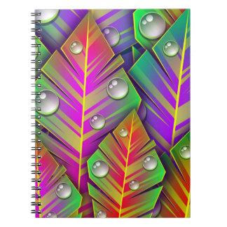 Hojas coloridas libreta