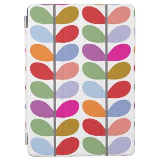 Hojas coloridas - verde rojo púrpura azul cubierta de iPad air
