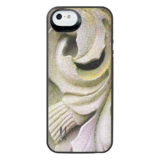 Hojas cubiertas de musgo de la piedra funda para batería para iPhone SE/5/5s