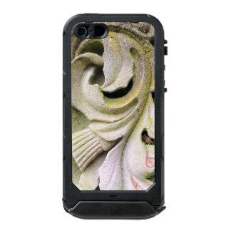 Hojas cubiertas de musgo de la piedra funda para iPhone 5 incipio ATLAS ID