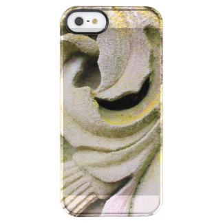 Hojas cubiertas de musgo de la piedra funda transparente para iPhone SE/5/5s