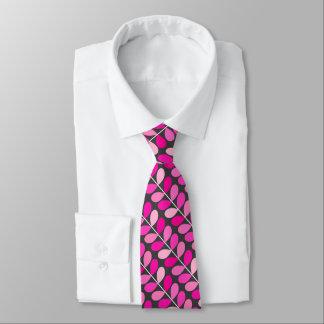 Hojas danesas de los mediados de siglo, rosado corbatas personalizadas