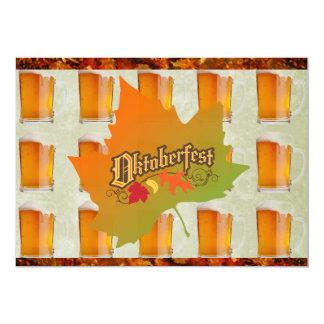 Hojas de la caída de las tazas de cerveza de invitación 12,7 x 17,8 cm
