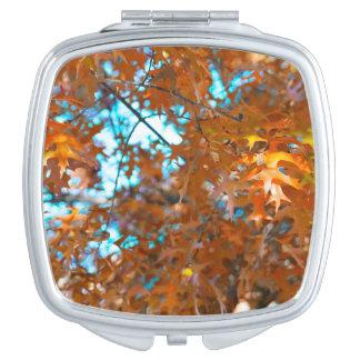 Hojas de la caída espejo compacto