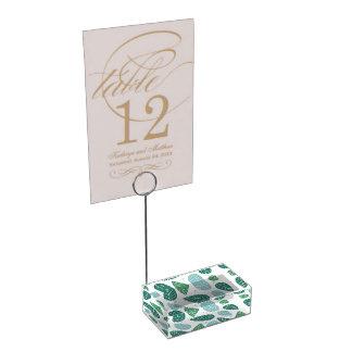 Hojas de la primavera de la diversión soporte para tarjeta de mesa