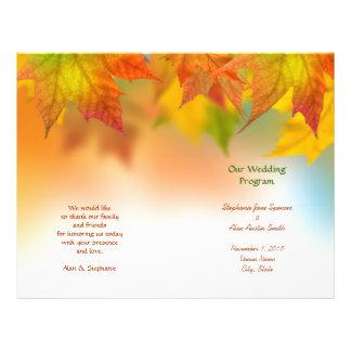 Hojas de los aviadores del programa del boda del folleto 21,6 x 28 cm