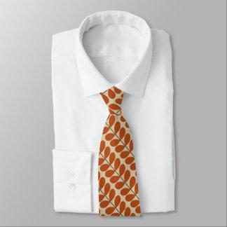 Hojas de los mediados de siglo, moho Brown y beige Corbatas Personalizadas