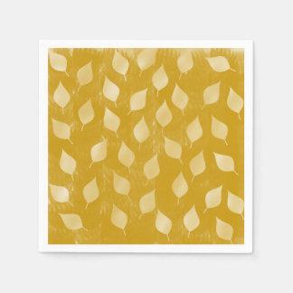 Hojas de oro servilletas desechables