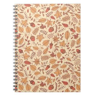 Hojas de otoño cuaderno