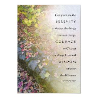 Hojas de otoño del rezo de la serenidad y pared de invitación 12,7 x 17,8 cm