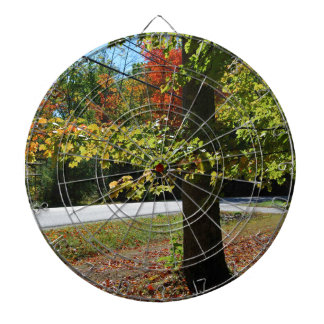 Hojas de otoño en Maine Tabla Dardos