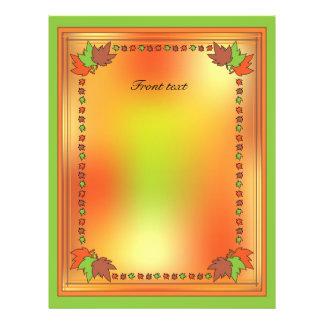 Hojas de otoño folleto 21,6 x 28 cm