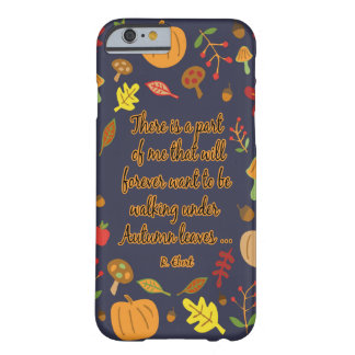 Hojas de otoño funda barely there iPhone 6