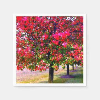 Hojas de otoño impresionistas servilleta desechable