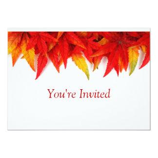 Hojas de otoño invitación 12,7 x 17,8 cm