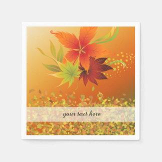 Hojas de otoño servilleta de papel