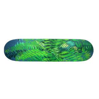 Hojas del helecho, diseño floral, verdor, azul y patines personalizados
