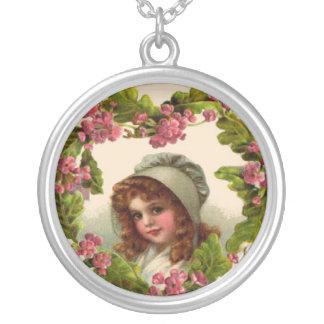 Hojas del niño del Victorian de la plata esterlina Grimpolas Personalizadas