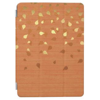 Hojas del oro del otoño/modelo de Pinecone Cubierta De iPad Air