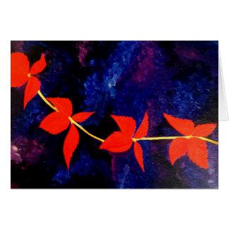 Hojas del otoño - tarjeta de felicitación