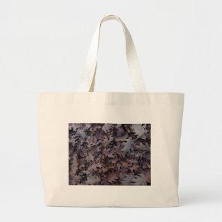 Hojas del roble del otoño bolso de tela gigante