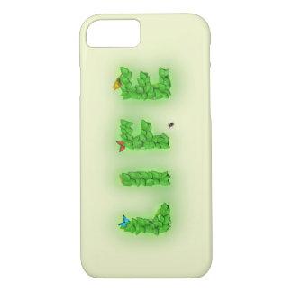 Hojas del verde del texto de la vida funda iPhone 7