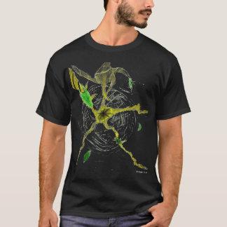 Hojas en espacio camiseta