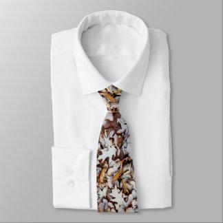 Hojas en lazo de la foto de la nieve del invierno corbatas personalizadas