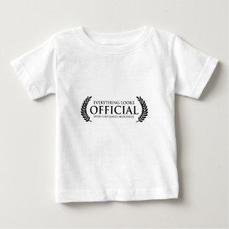 Hojas minúsculas oficiales camiseta de bebé