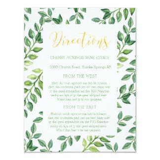 Hojas románticas del verde - invitación de boda de