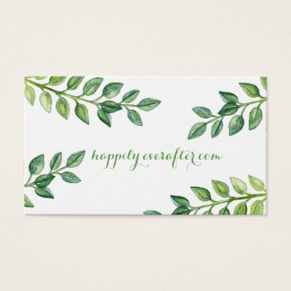 Hojas románticas del verde - tarjeta del Web site