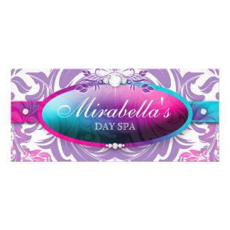 Hojas rosadas púrpuras del azul del vale de la diseño de tarjeta publicitaria