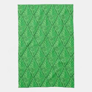 Hojas tropicales verdes de lujo toallas de mano