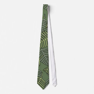 Hojas tropicales verdes en verde oscuro. corbatas