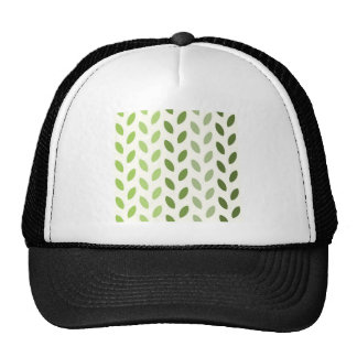 Hojas verdes de Eco Gorras