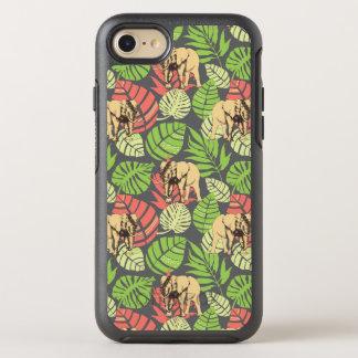 Hojas y elefantes exóticos de la selva funda OtterBox symmetry para iPhone 8/7