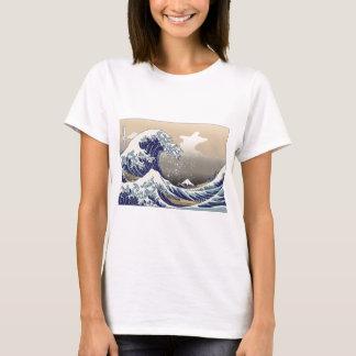 Hokusai la gran onda camiseta